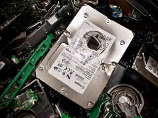 Image of Destroyed Hard Drive